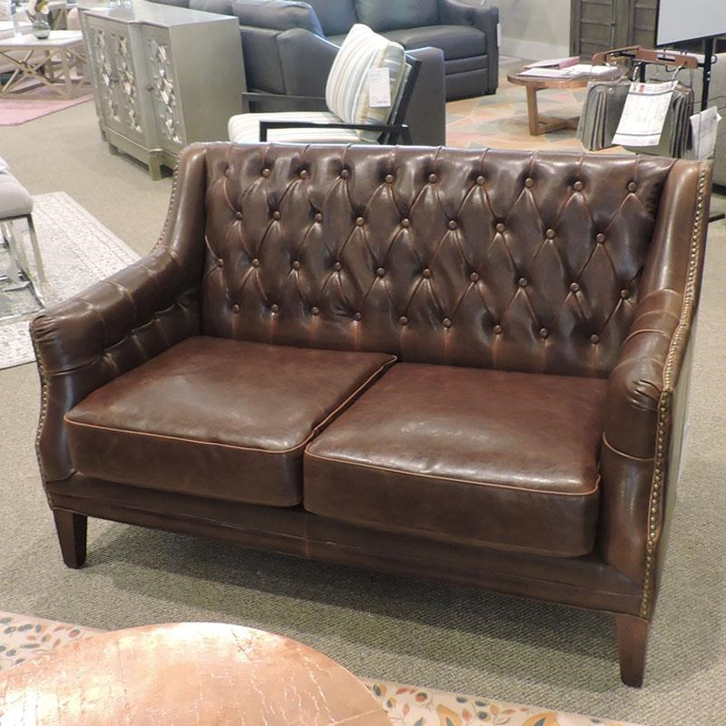 Antique Leather Settee