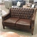 Belfort Leather Clearance Antique Leather Settee - Item Number: 053712829