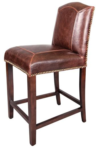 Belfort Leather Cloister Counter Stool - Item Number: AT321C-OT