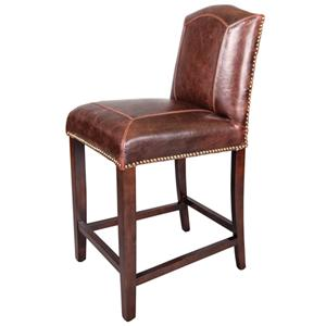 Belfort Leather Cloister Counter Stool