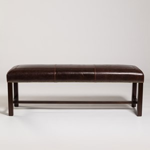 "Belfort Leather Cloister 60"" Bench"