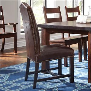 Belfort Leather Cloister Dining Side Chair