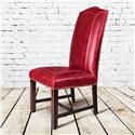 Belfort Leather Cloister Dining Side Chair with Leather Back and Seat