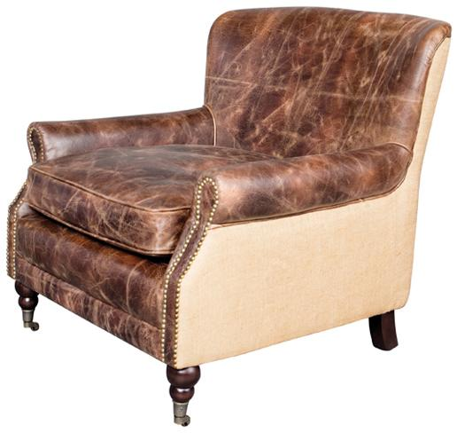 Belfort Leather Downton Chair - Item Number: AT28001-WBNB