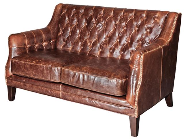 Belfort Leather London Settee - Item Number: AT11702-AS