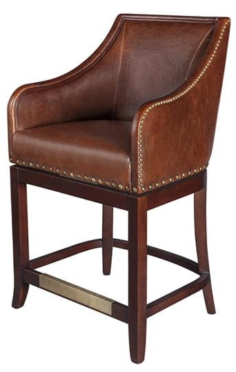 Belfort Leather Manchester Swivel Counter Stool - Item Number: AT012C-AS