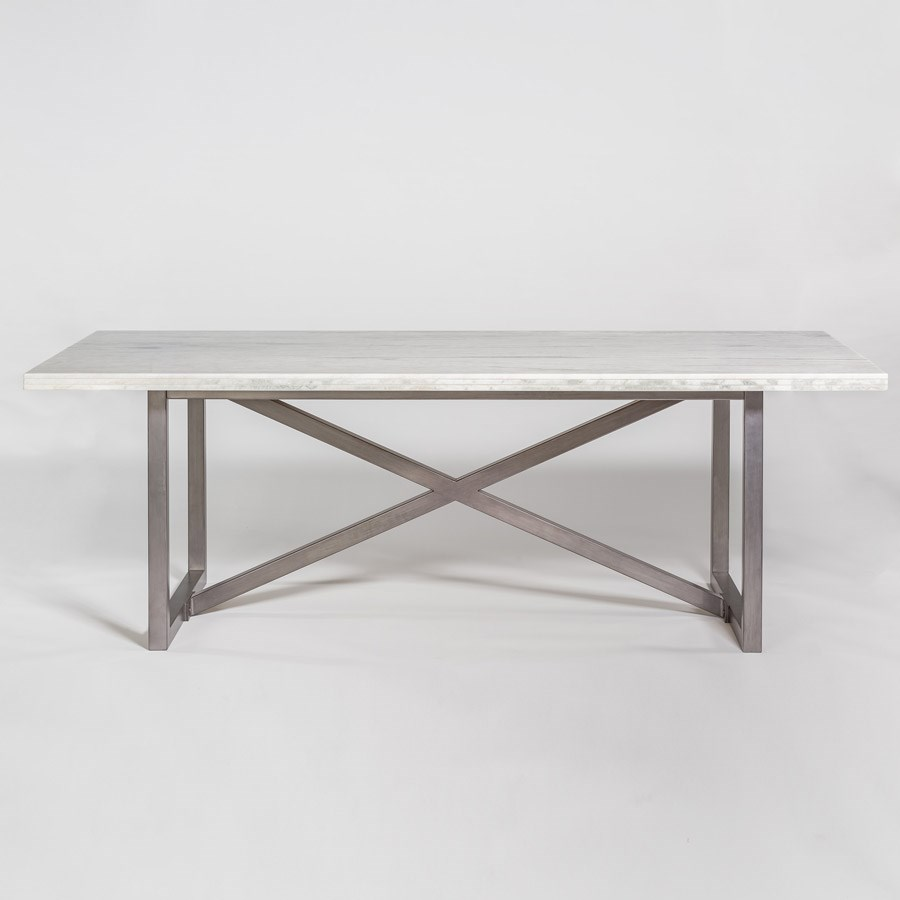 Menlo Park 88 Marble And Metal Dining Table Sprintz Furniture