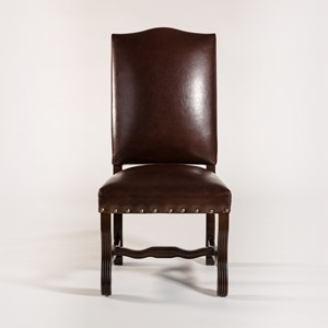 Belfort Leather Monastery Dining Chair