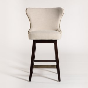 Belfort Leather Rockwell Upholstered Fabric Bar Stool