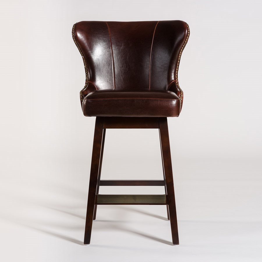 Belfort Leather Rockwell Upholstered Leather Bar Stool - Item Number: AT018B-OT