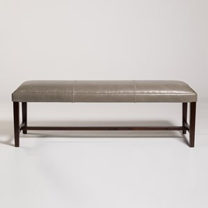 "Belfort Leather Weston 60"" Bench"