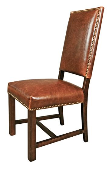 Belfort Leather Weston Dining Room Side Chair - Item Number: AT550-AS