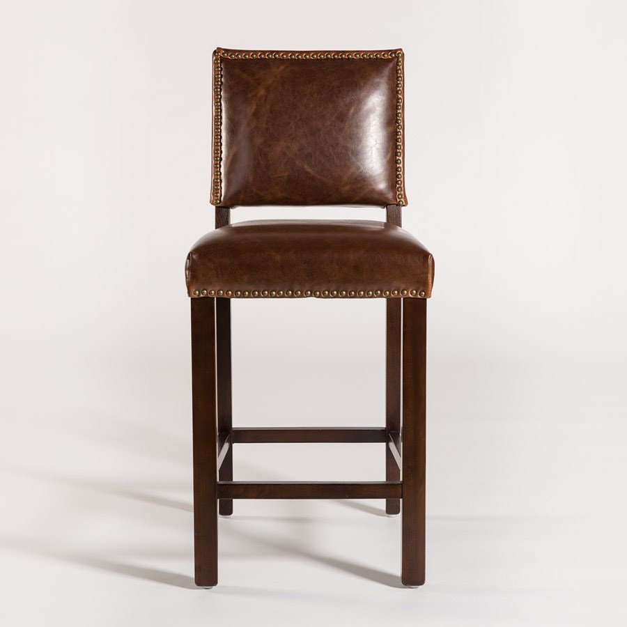 Belfort Leather Weston Bar Stool - Item Number: AT552B-AS