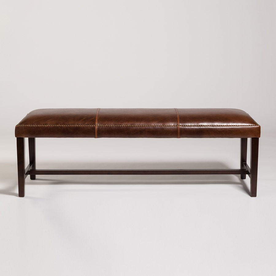 Belfort Leather Weston Dining Bench - Item Number: AT573-AS