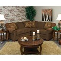 Alexvale V140 Small Sectional Sofa for 3-4 People - Item Number: V140-64+27-Redmountain-Hazelnut