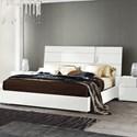 Alf Italia Bianca Queen Low Profile Bed - Item Number: KJBB160+97+201