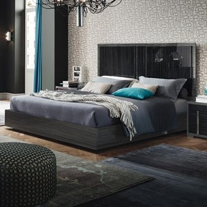Genial Alf Italia Minerva Queen Low Profile Bed With Metallic Accent | Stoney  Creek Furniture | Platform Or Low Profile Bed