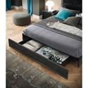 Alf Italia Minerva Queen Storage Bed with Metallic Accent
