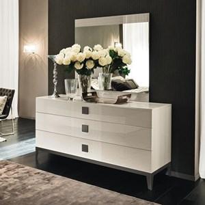 Alf Italia Mont Blanc 3 Drawer Dresser and Mirror