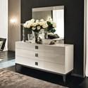 Alf Italia Mont Blanc 3 Drawer Dresser and Mirror - Item Number: KJMB120KT+140KT