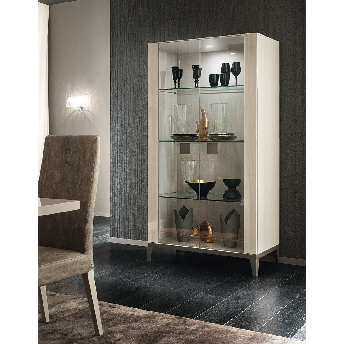 2 Door Curio Cabinet