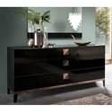 Alf Italia Mont Noir 3 Drawer Dresser - Item Number: KJMT120NE