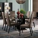 Alf Italia Mont Noir Table and Chair Set - Item Number: PJMT0617+6xKJMT620NE