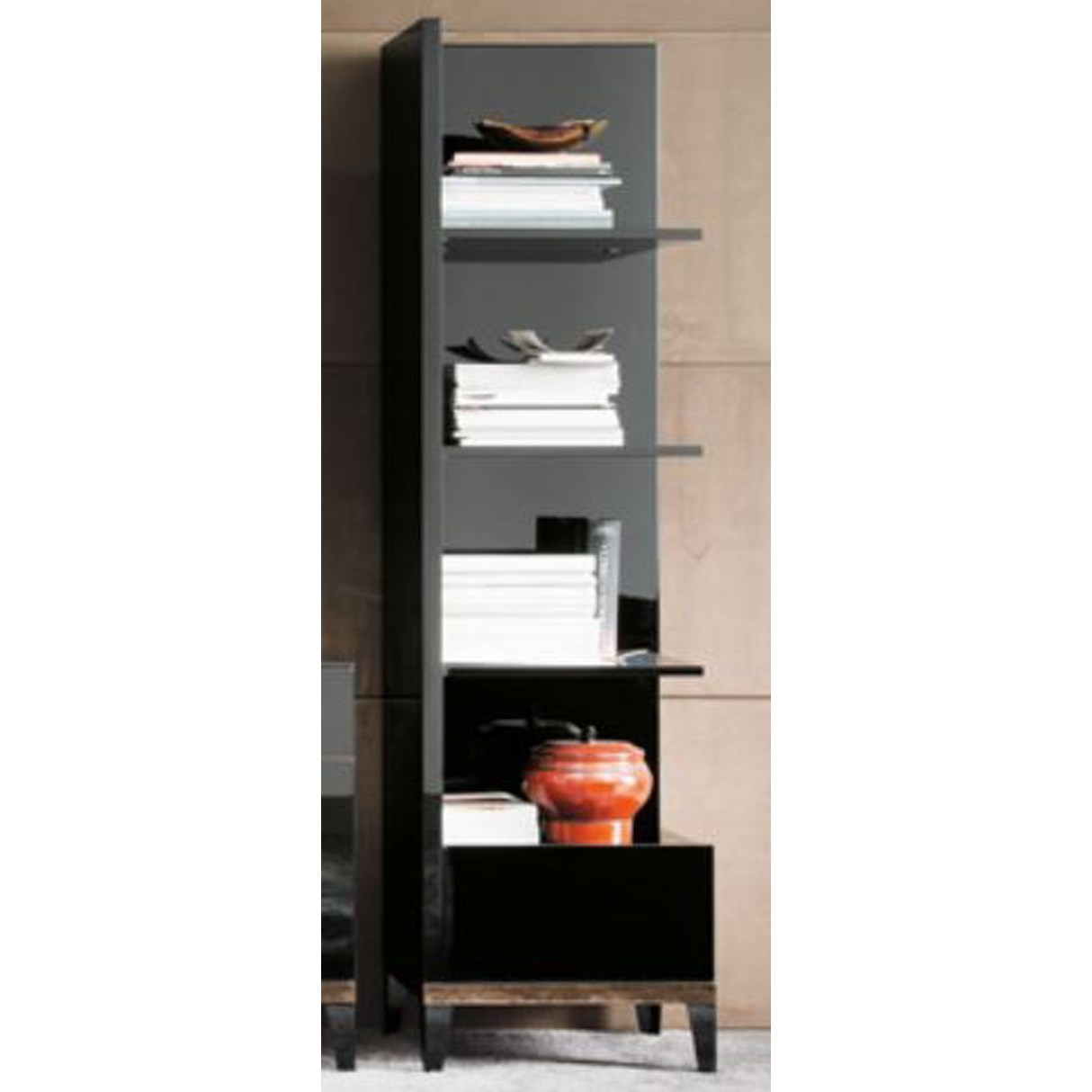 Alf Italia Mont Noir Left Bookcase - Item Number: PJMT0632