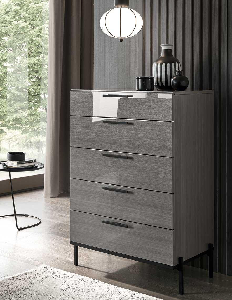Novecento 5 Drawer Chest by Alf Italia at HomeWorld Furniture