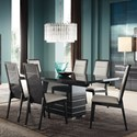 Alf Italia Versilia Rectangle Table and Chair Set - Item Number: JVR-0616KT+6x620KT