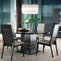 Alf Italia Versilia Round Table and Chair Set - Item Number: JVR-0617KT+4x620KT