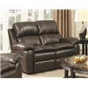 Amalfi Home Furniture Burlington Recliner Loveseat w/ Storage Console - Item Number: 132332925
