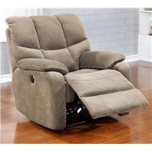 Casual Power Recliner with Pillow Arms