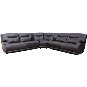 Amalfi Home Furniture Teddy Power Reclining Sectional