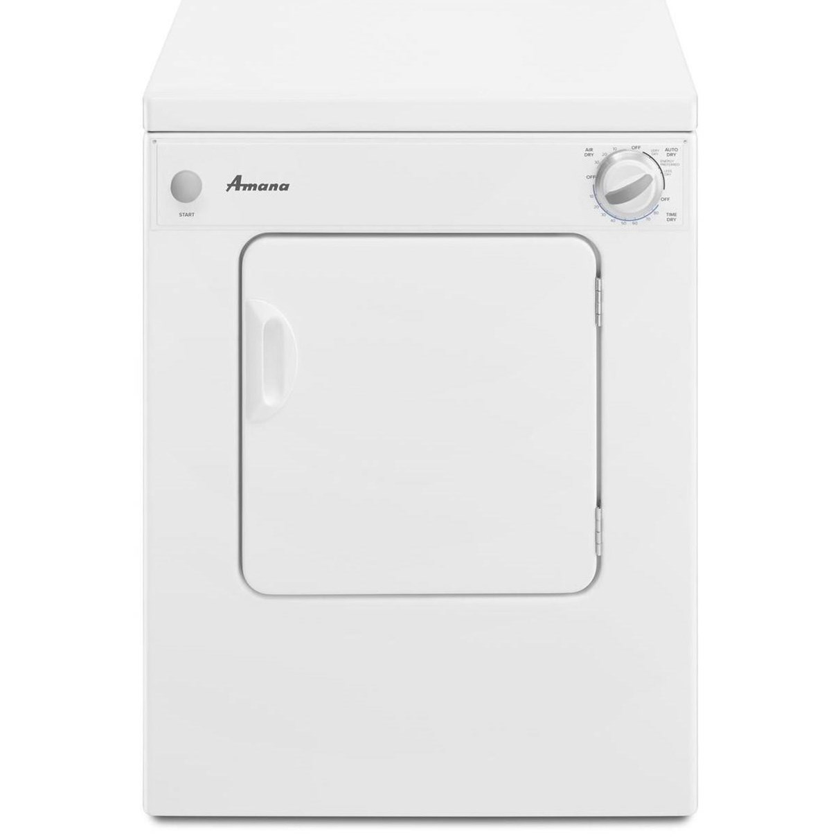 Amana Dryers 3.4 cu. ft. Compact Dryer - Item Number: NEC3240FW