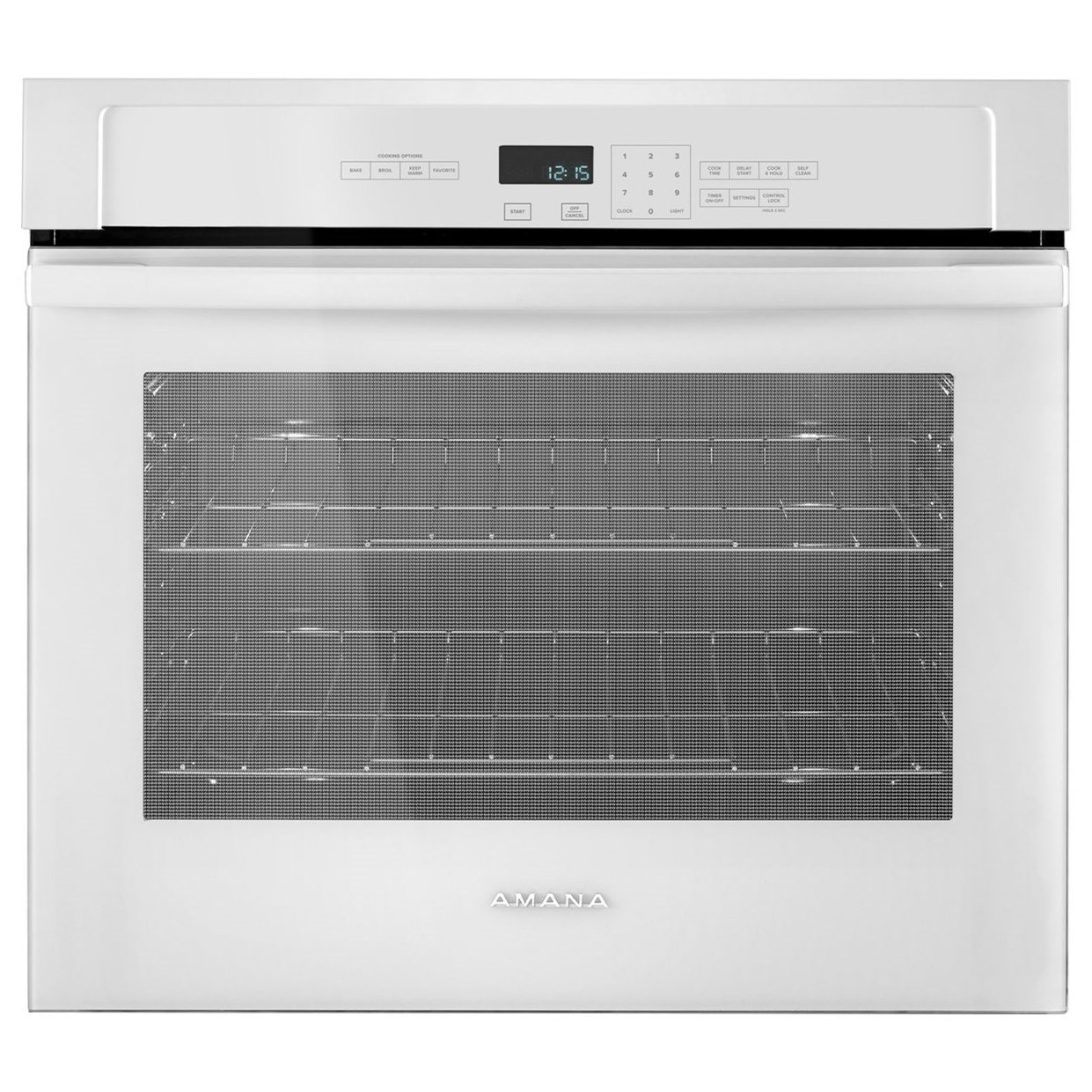 Amana Electric Wall Ovens - Amana 30-inch 5.0 Cu. Ft. Amana® Wall Oven - Item Number: AWO6313SFW