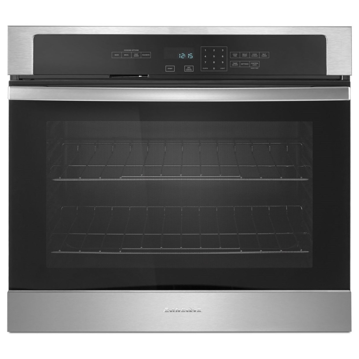 Amana Electric Wall Ovens - Amana 27-inch 4.3 Cu. Ft. Amana® Wall Oven - Item Number: AWO6317SFS