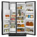 Amana Side-By-Side Refrigerators ENERGY STAR® 25.5 Cu. Ft. Side-by-Side Refrigerator with PUR® Water Filtration - Spillsaver™ Glass Shelves and Temp Assure™ Freshness Controls