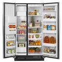 Amana Side-By-Side Refrigerators ENERGY STAR® 25.5 Cu. Ft. Side-by-Side Refrigerator with PUR® Water Filtration - Spillsaver™ Glass Shelves
