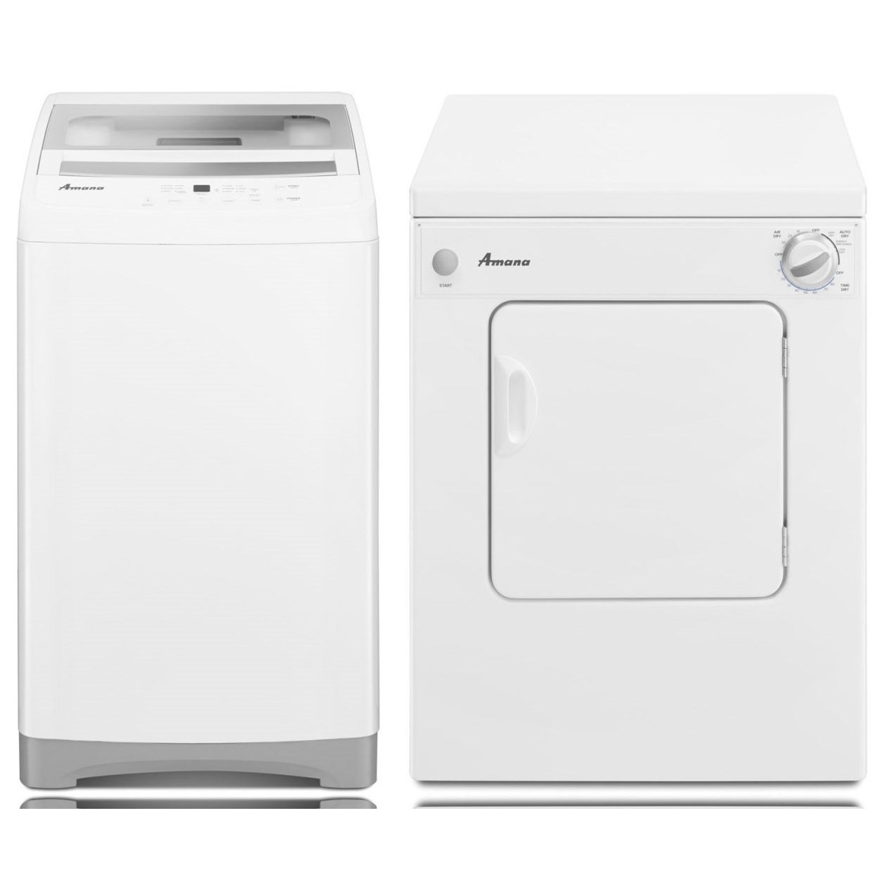 Amana Washer and Dryer Sets Portable Washer and Dryer Set - Item Number: NTC3500FW+NEC3120FW