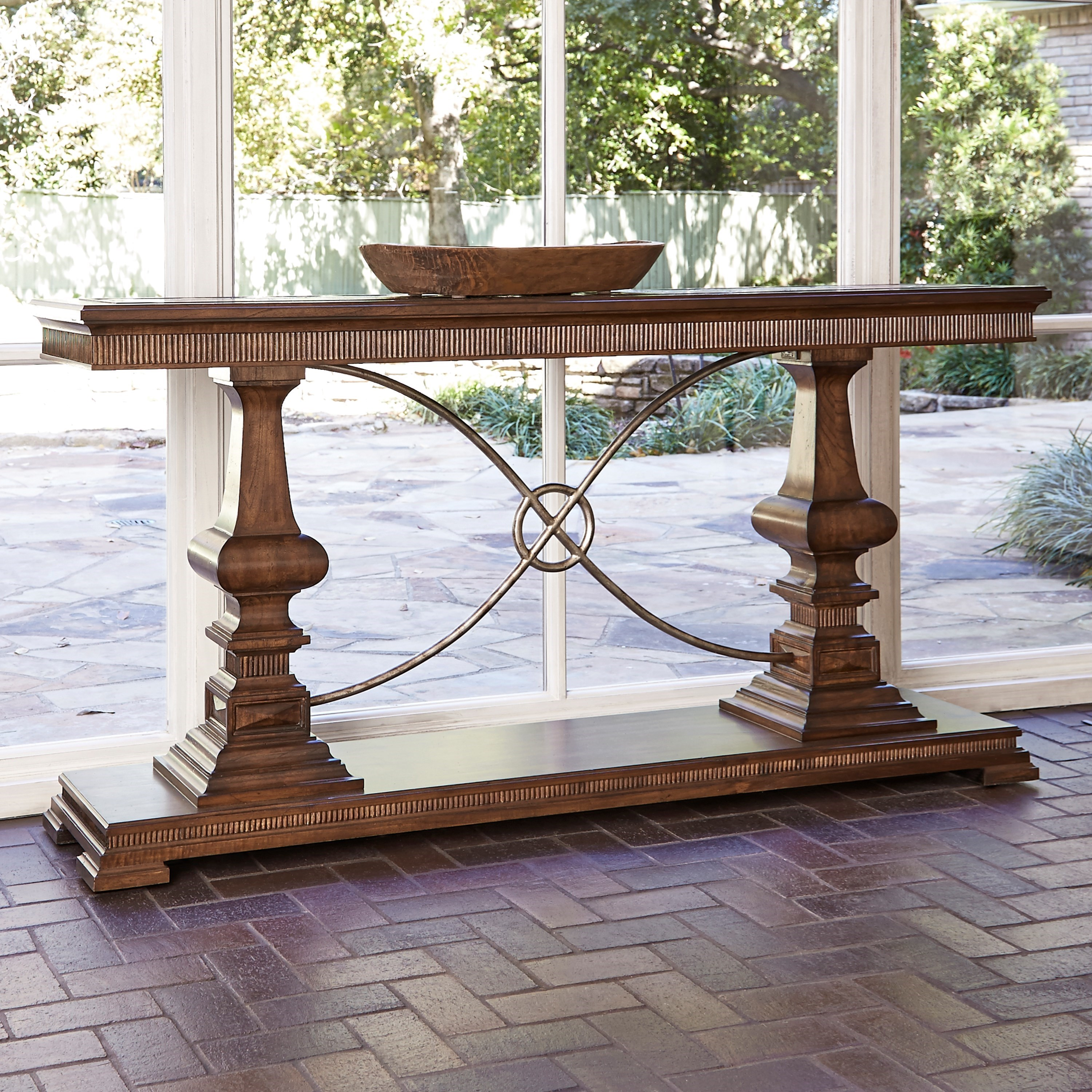 Accent Tables Woodford Console Table by Ambella Home Collection at Alison Craig Home Furnishings