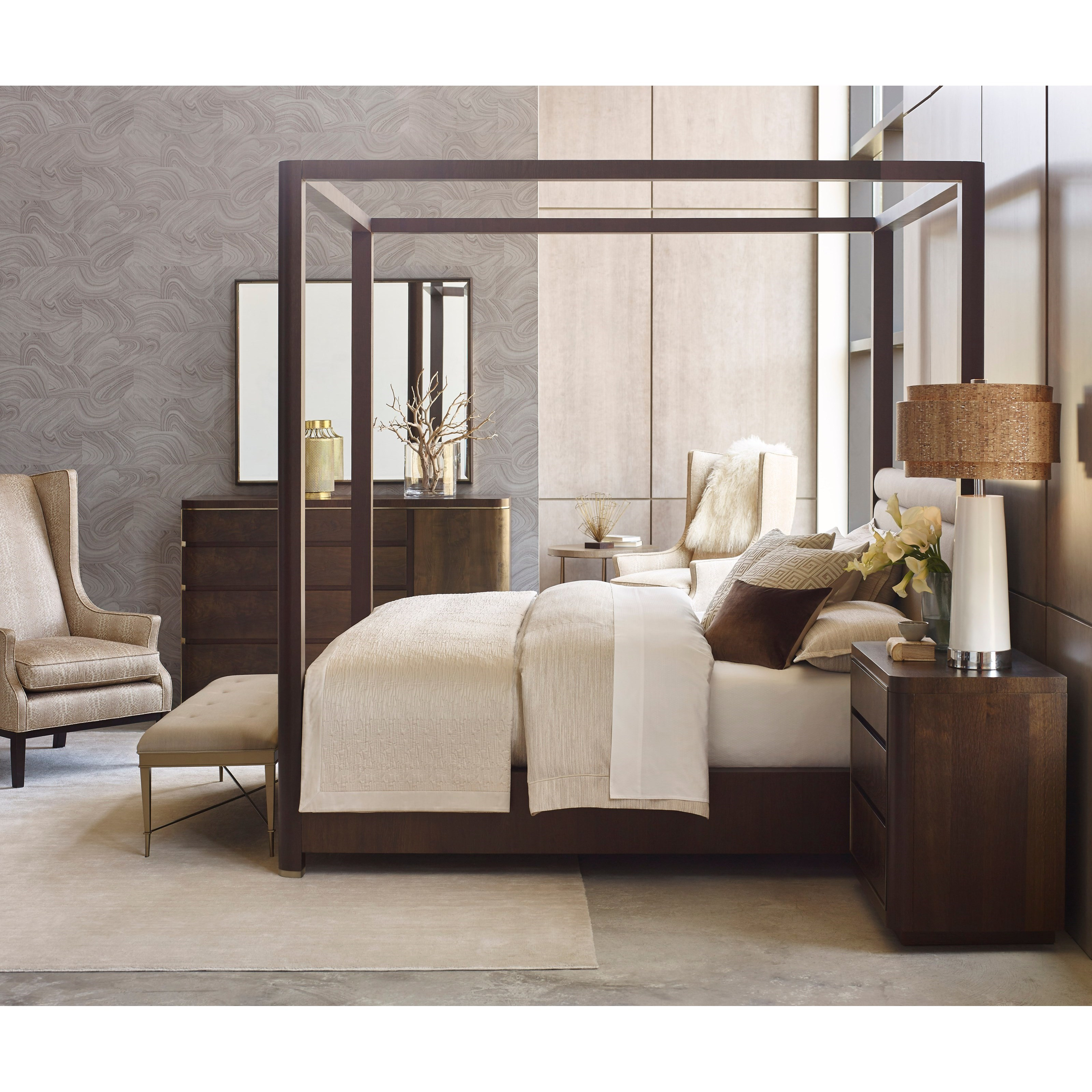 American Drew Ad Modern Organics King Bedroom Group - Item Number: 600 K Bedroom Group 2