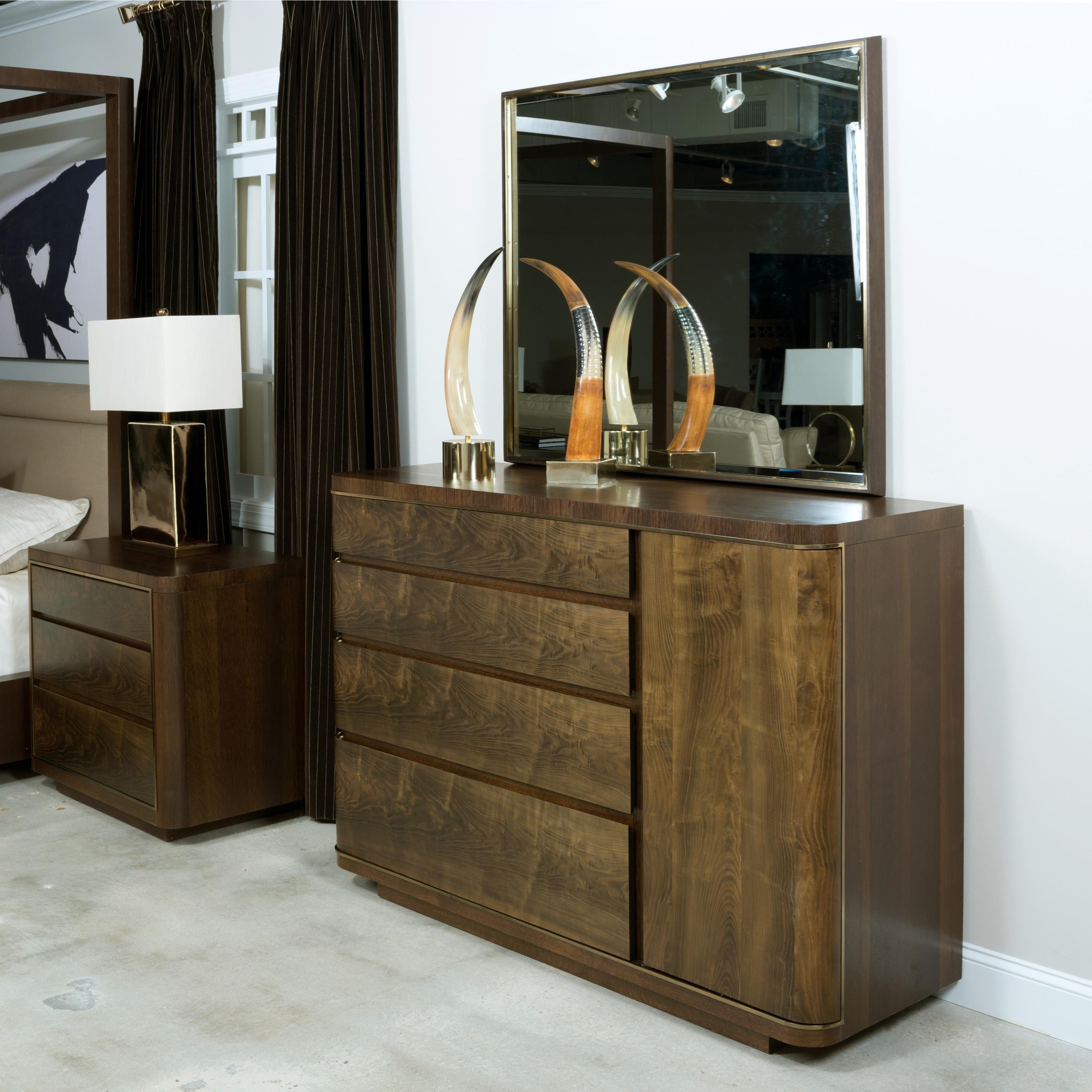 American Drew Ad Modern Organics Spencer Dresser and Holt Mirror - Item Number: 600-030+131