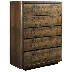American Drew Ad Modern Organics Faulk Five Drawer Chest