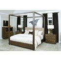 American Drew Ad Modern Organics King Fremont Canopy Bed