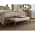 American Drew Ad Modern Organics Hamlin Bed Bench with Upholstered Seat