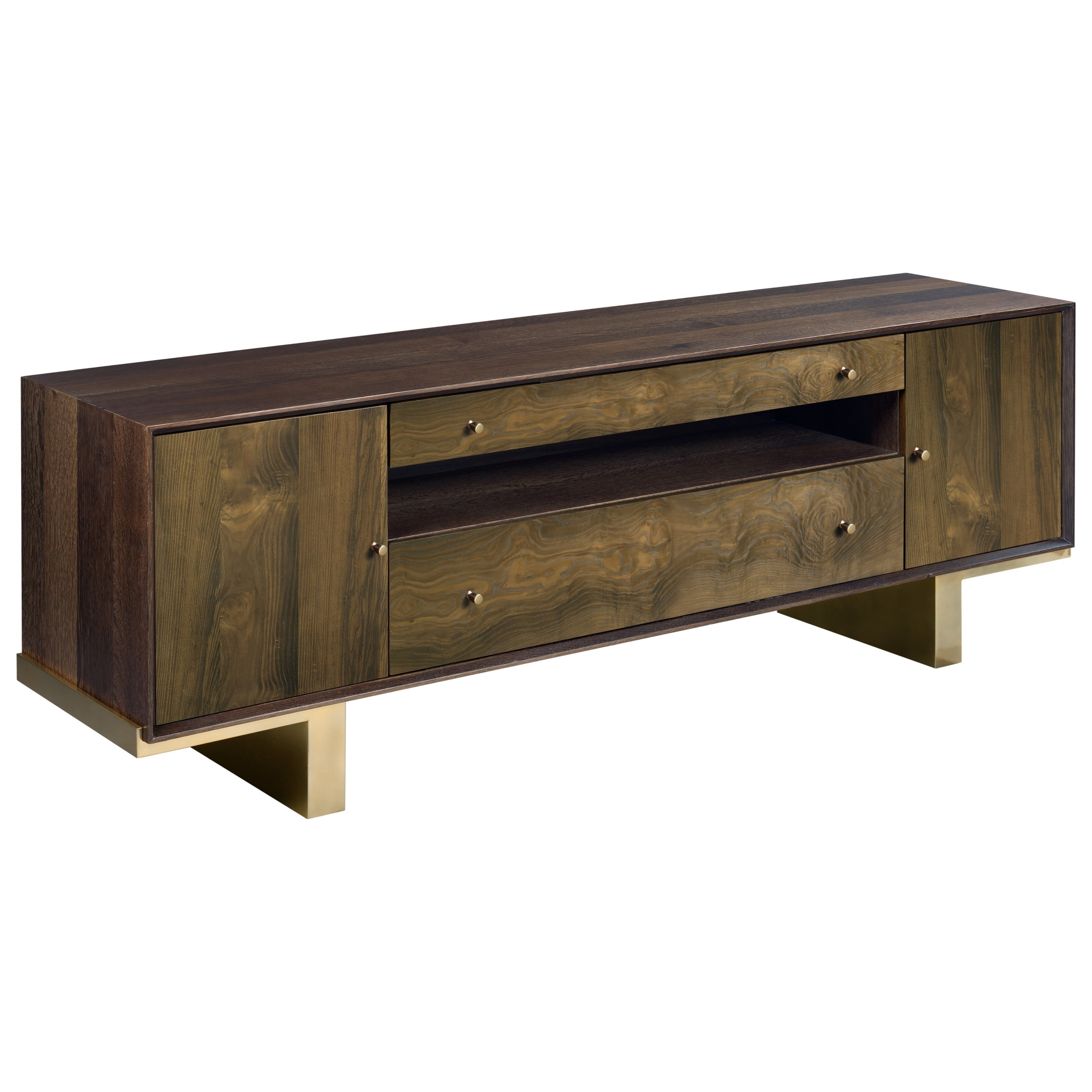 American Drew Ad Modern Organics Conrad Entertainment Console With Outlet Wayside Furniture