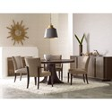 American Drew Ad Modern Organics Camby Round Pedestal Dining Table