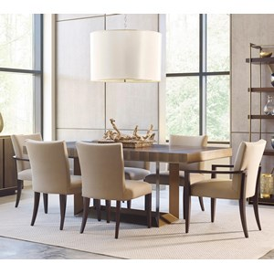 American Drew Ad Modern Organics 7 Piece Table & Chair Set
