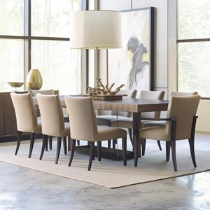 American Drew Ad Modern Organics 9 Piece Table & Chair Set